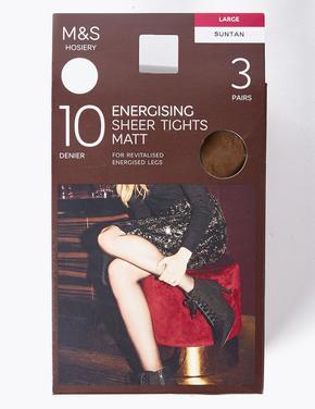 Kadın Kahverengi 3'lü 10 Denye Külotlu Çorap Seti