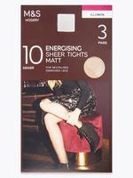 Kadın Bej 3'lü 10 Denye Külotlu Çorap Seti