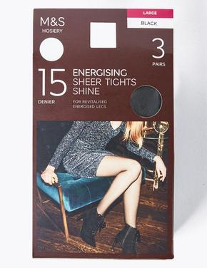 Kadın Siyah 3'lü 15 Denye Külotlu Çorap Seti