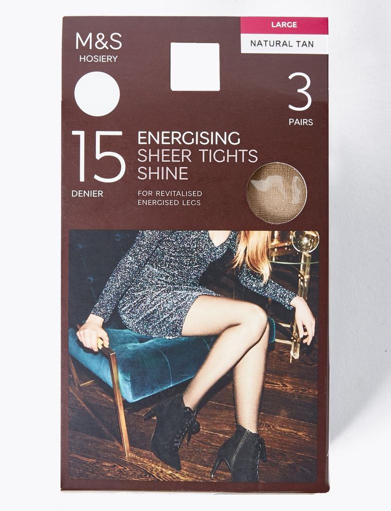 Kadın Kahverengi 3'lü 15 Denye Külotlu Çorap Seti