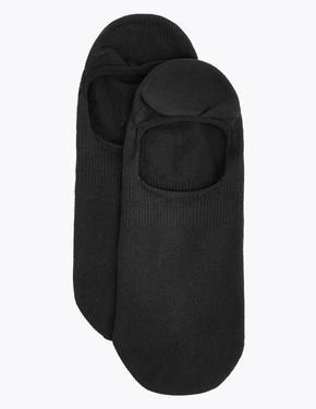 Kadın Siyah 2'li Body Sensor™ Babet Çorabı Seti