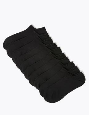 Kadın Siyah 10'lu Trainer Çorap Seti