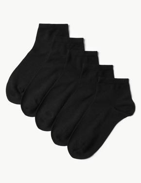 Kadın Siyah 5'li Soket Çorap Seti