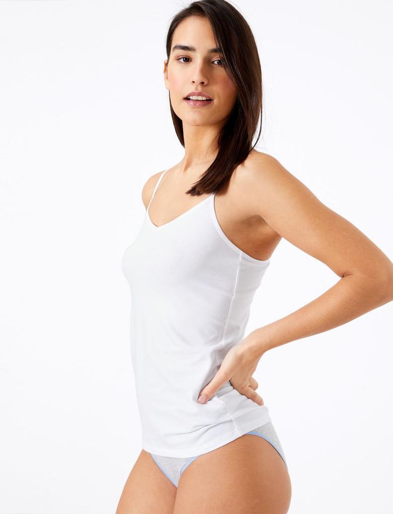 Kadın Beyaz Askılı Atlet