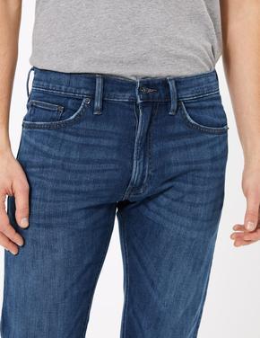 Erkek Mavi Slim Fit Jean Pantolon