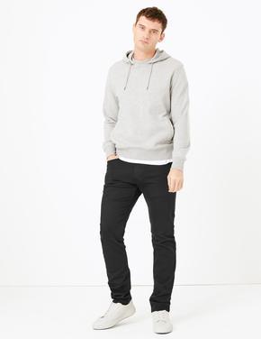 Erkek Siyah Slim Fit Jean Pantolon