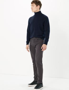 Erkek Gri Slim Fit Jean Pantolon