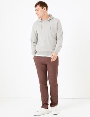 Erkek Mor Slim Fit Chino Pantolon