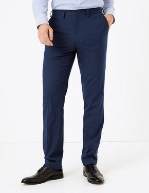 Erkek Lacivert Streç Slim Fit Pantolon