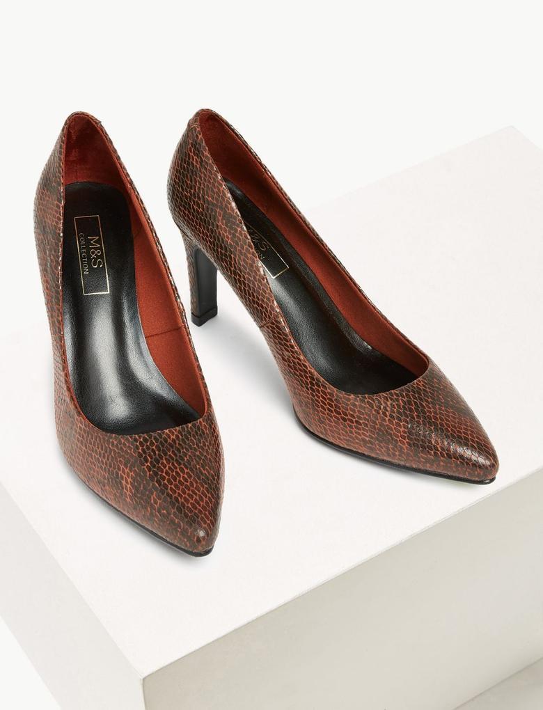 Kadın Kahverengi Stiletto Topuklu Ayakkabı
