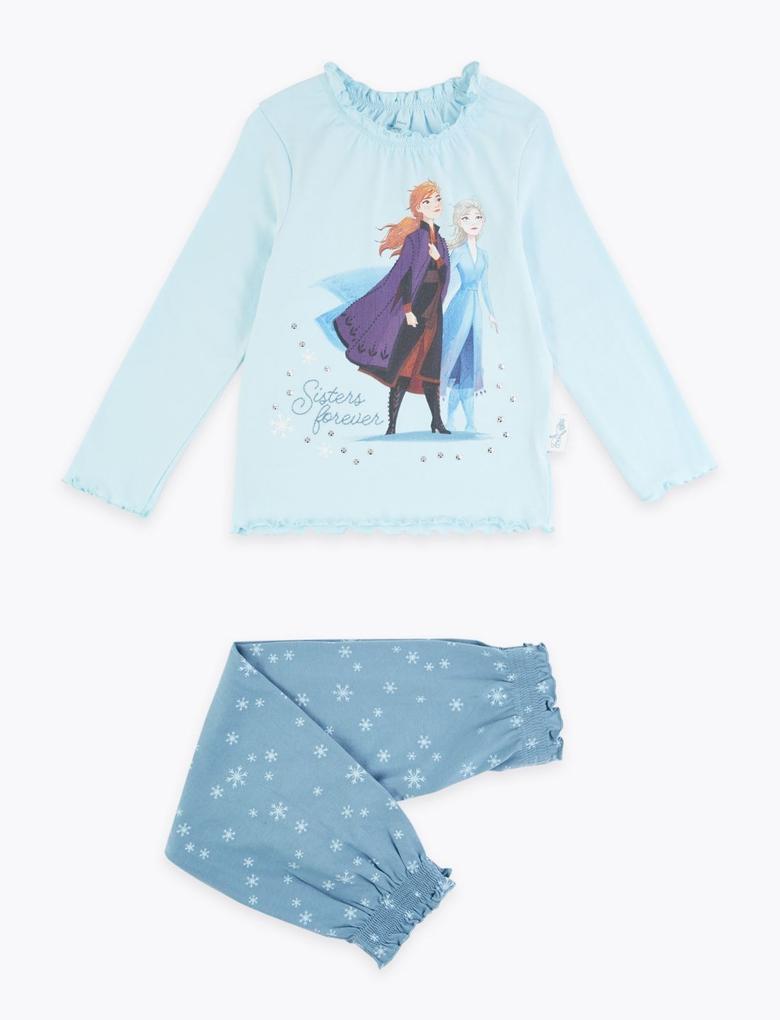 Çocuk Mavi Disney Frozen™ Pijama Takımı