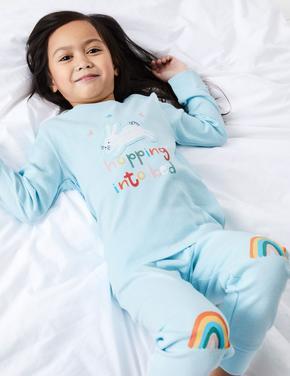 2'li Renkli Pijama Seti