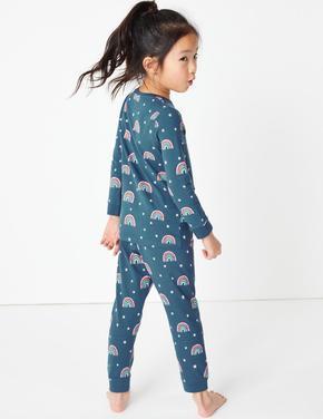 Gökkuşağı Desenli Pijama Takımı