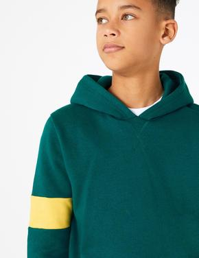 Yeşil Kapüşonlu Sweatshirt