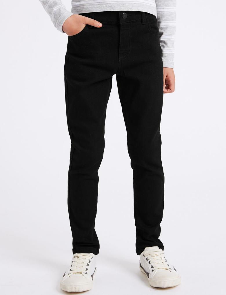 Erkek Çocuk Siyah Super Skinny Fit Jean Pantolon