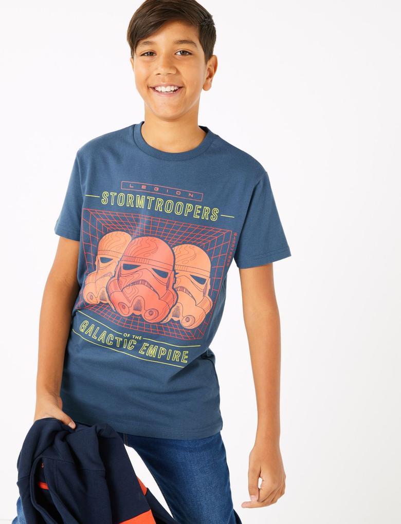 Erkek Çocuk Lacivert Star Wars™ Stormtrooper T-Shirt