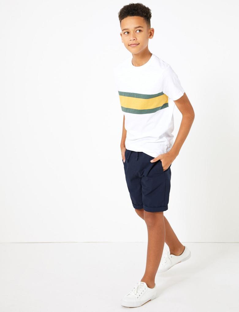 Erkek Çocuk Multi Renk 2'li Pamuklu Şort Seti