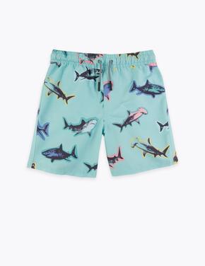 Erkek Çocuk Multi Renk Köpek Balığı Desenli Şort Mayo