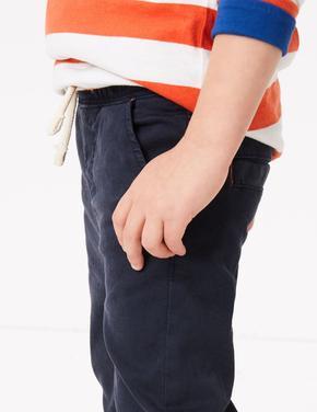 Gri Bağcıklı Kadife Pantolon