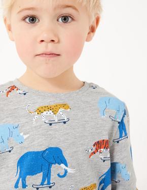 Multi Renk Uzun Kollu T-Shirt