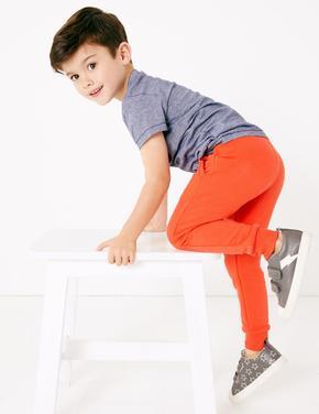 Erkek Çocuk Turuncu Pamuklu Eşofman Altı