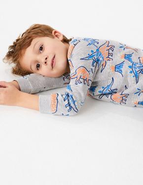 Erkek Çocuk Multi Renk Dinozor Desenli Sweatshirt