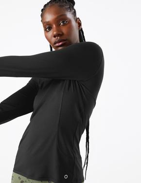 Kadın Siyah Performance Uzun Kollu T-Shirt