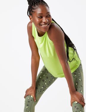 Kadın Sarı Kolsuz Atlet