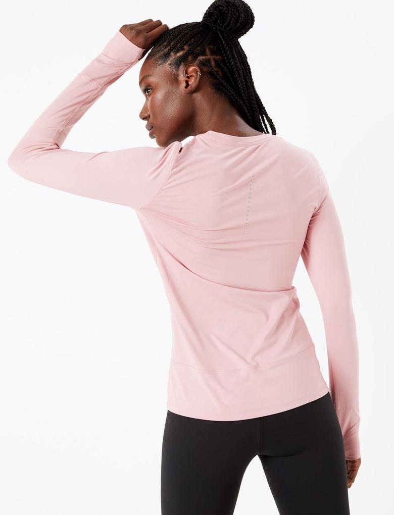 Kadın Pembe Performance Uzun Kollu T-Shirt