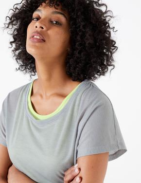 Kadın Gri 2'li T-Shirt Seti