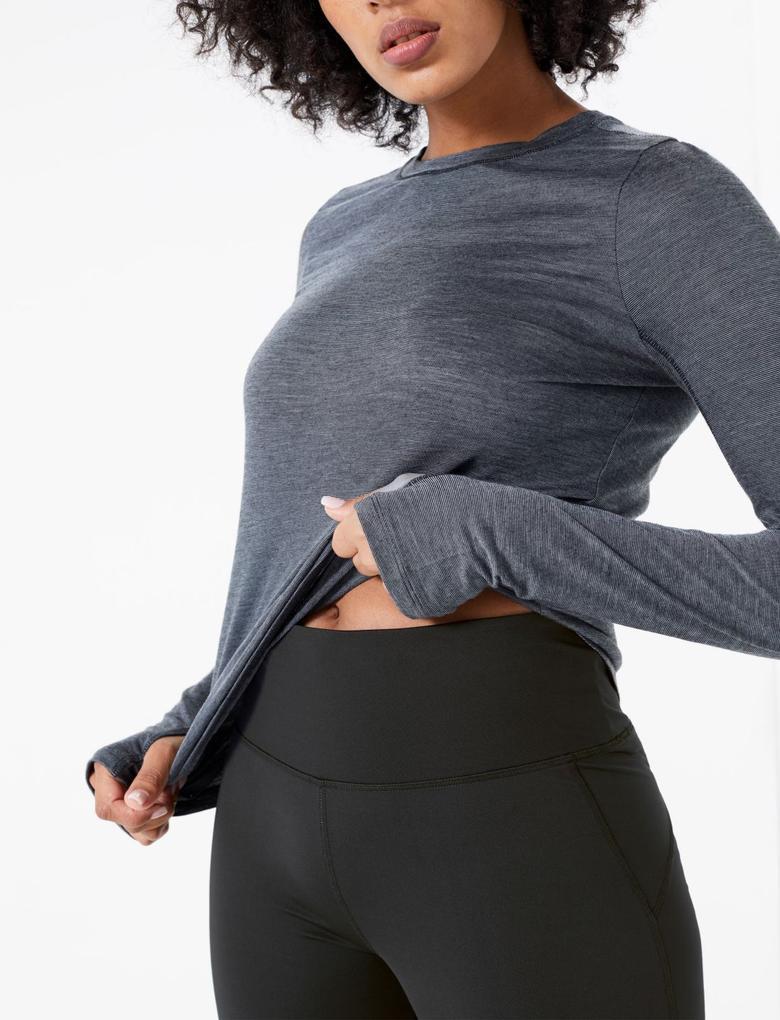 Kadın Siyah Go Move Crop Spor Taytı