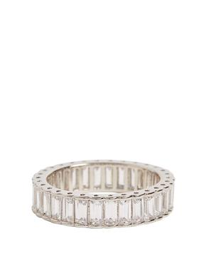 Gümüş Platinum Rengi Taşlı Yüzük