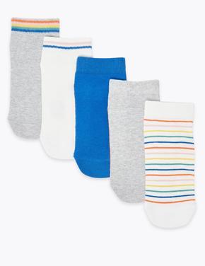 Çocuk Pembe 5'li Desenli Trainer Çorap Seti