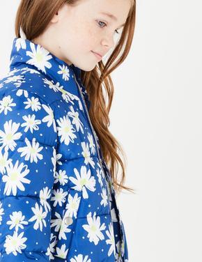 Kız Çocuk Mavi Puffa Mont