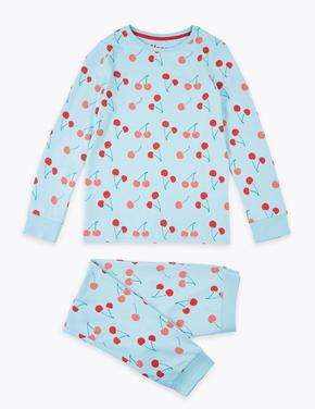 Kiraz Desenli Pijama Takımı