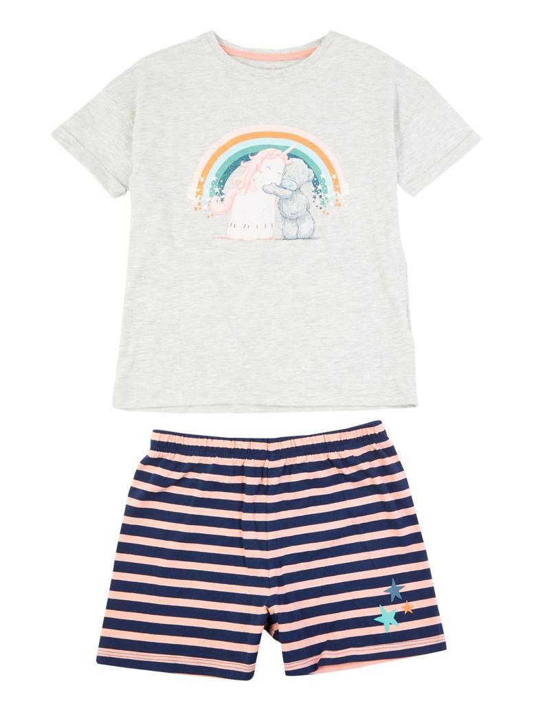 Çocuk Gri Tatty Teddy™ Kısa Kollu Pijama Takımı