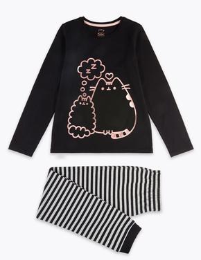 Çocuk Siyah Desenli Pijama Takımı
