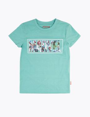 Erkek Çocuk Yeşil Marvel™ Desenli Kısa Kollu T-Shirt
