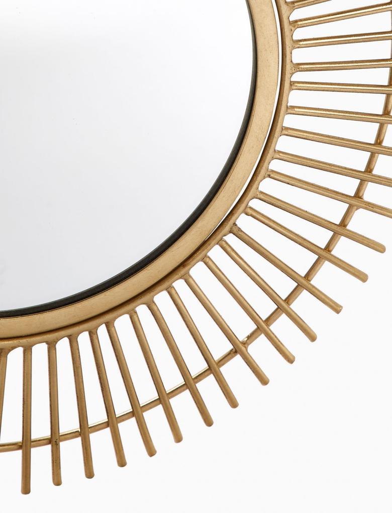 Ev Kahverengi Mini Yuvarlak Duvar Aynası