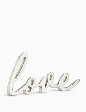 Ev Gümüş Love Dekoratif Aksesuar