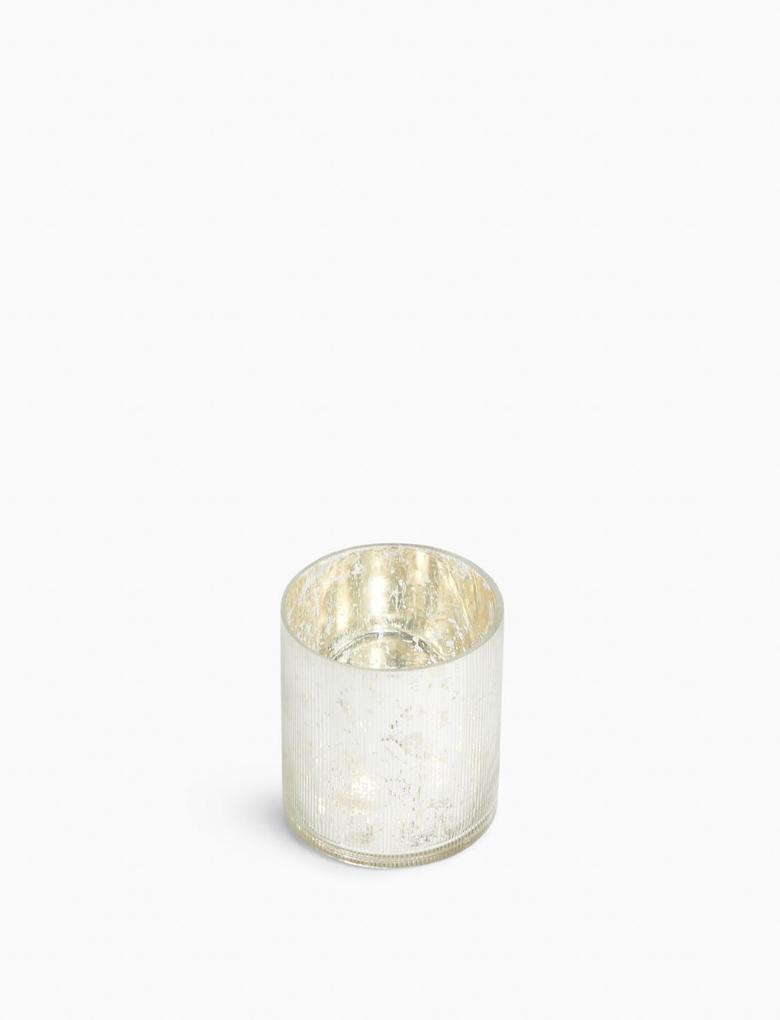 Ev Gümüş Linear Mumluk