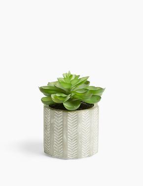 Yeşil Mini Dekoratif Çiçek