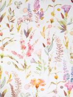 Ev Bordo Çiçek Desenli Pamuk Saten Nevresim Takımı