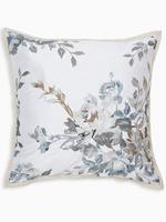 Ev Gümüş Çiçek İşlemeli Dekoratif Yastık