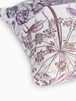 Ev Bordo Kuş Desenli Jakarlı Dekoratif Yastık