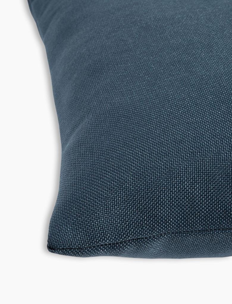 Ev Mavi Düz Renk Yastık