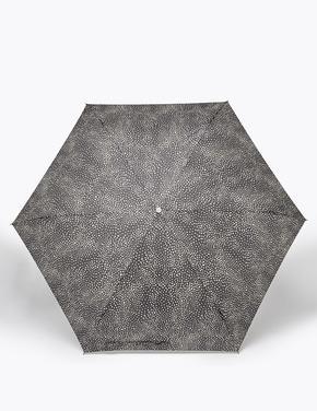 Kadın Siyah Desenli Kompakt Şemsiye (Stormwear™ teknolojisi ile)