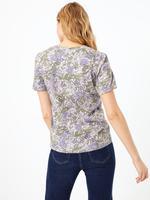 Kadın Pembe Çiçek Desenli Kısa Kollu T-Shirt