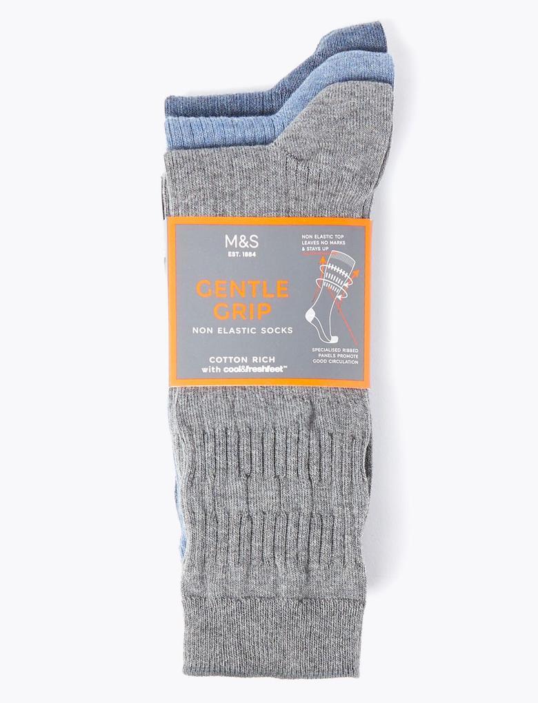 Erkek Mavi 3'lü Çorap Seti