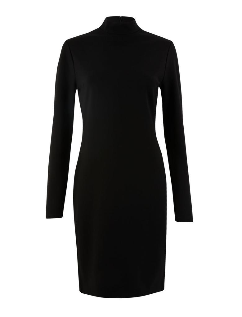 Kadın Siyah Düğme Detaylı Shift Elbise